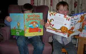 Here are James and Daniel enjoying some of their favourites.
